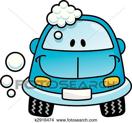 clipart of car wash blue vector k2916474 search clip art rh fotosearch com Free Clip Art Car Wash Fundraiser Free Car Wash Graphics