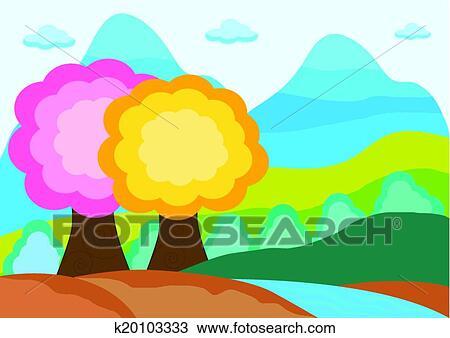 剪贴画 - 秋天风景图片