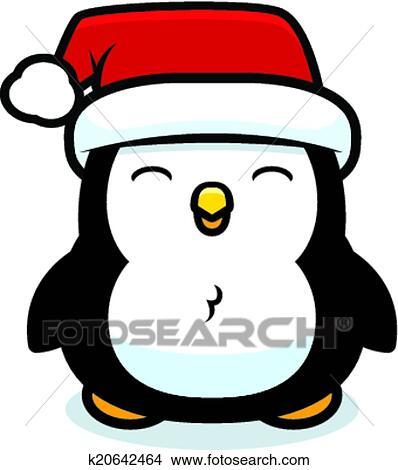 clipart karikatur weihnachten pinguin k20642464. Black Bedroom Furniture Sets. Home Design Ideas