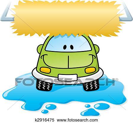 Clipart lavage voiture vert vecteur k2916475 recherchez des clip arts des illustrations - Coloriage car wash ...