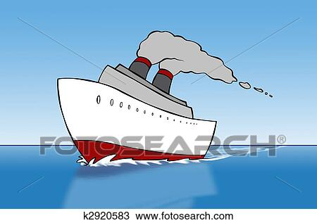 Drawing Of Cartoon Cruise Ship K Search Clipart - Draw a cruise ship