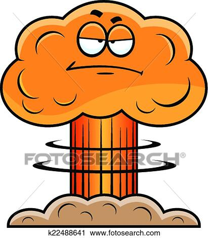 clipart of cartoon mushroom cloud grumpy k22488641 search clip art rh fotosearch com grumpy clipart free grumpy man clipart