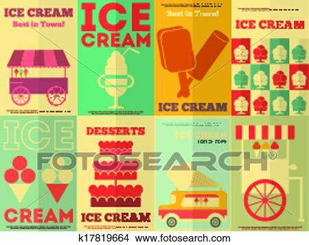 手绘图 - 冰淇淋, 海报