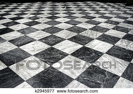 Foto negro et m rmol blanco piso k2945977 buscar for Piso marmol negro