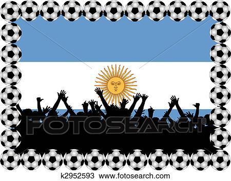 手绘图 - 足球, 迷, 阿根廷图片