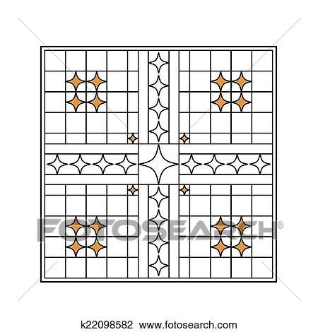 clipart fer forg gril portail porte barri re fen tre balustrade conception k22098582. Black Bedroom Furniture Sets. Home Design Ideas