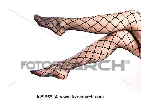 Banque de photo femme jambes dans collant k2965814 for Collant mural francais