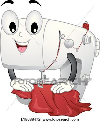 clipart machine coudre mascotte k18688472 recherchez des clip arts des illustrations des. Black Bedroom Furniture Sets. Home Design Ideas