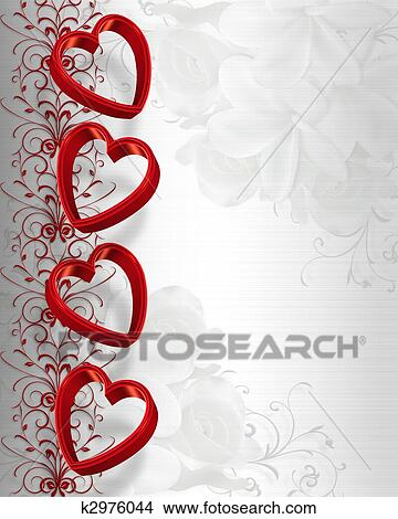 drawing valentines day hearts border fotosearch search clip art illustrations wall posters