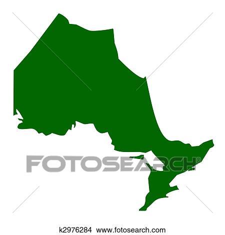 地图, 在中, 安大略, 省