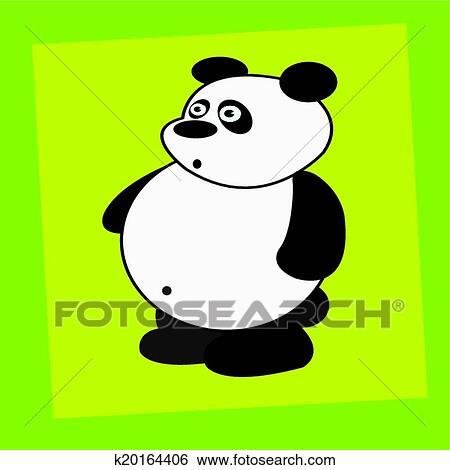 可爱的大熊猫绘画