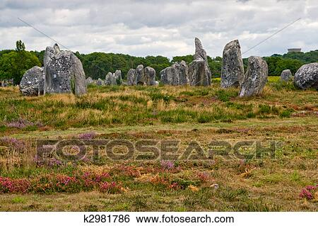 stock images of prehistoric megalithic menhirs alignment in carnac brittany france k2981786. Black Bedroom Furniture Sets. Home Design Ideas