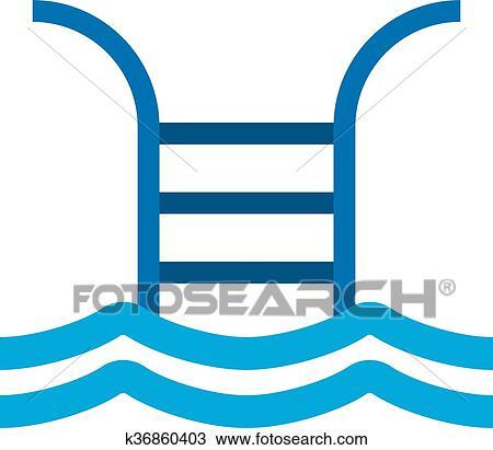 Clipart - piscina, señal, vector, illustration. k36860403 - Buscar ...