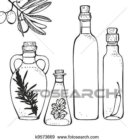 画 橄榄油, 瓶子