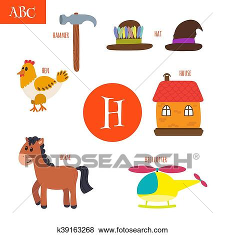 Clip art of letter h cartoon alphabet for children hen horse clip art letter h cartoon alphabet for children hen horse hat thecheapjerseys