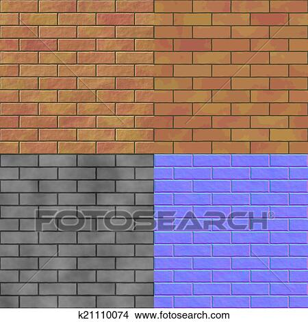 Drawings Of Brick Wall Seamless Generated Hires Texture