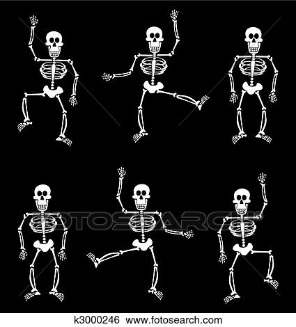 clip art halloween skeleton pattern black background fotosearch search clipart illustration - Halloween Skeleton