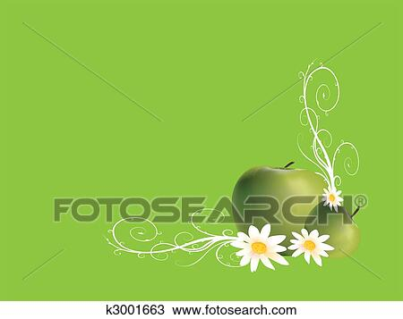 手绘图 苹果