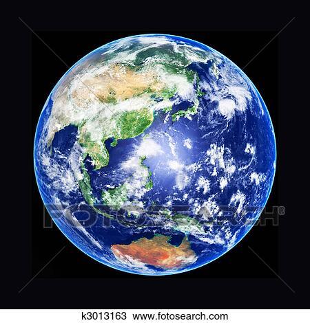 手绘图 地球