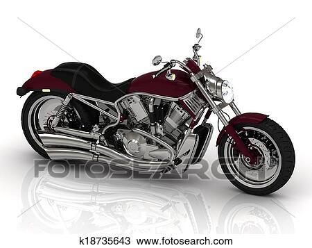 手绘图 - 摩托车, 从,