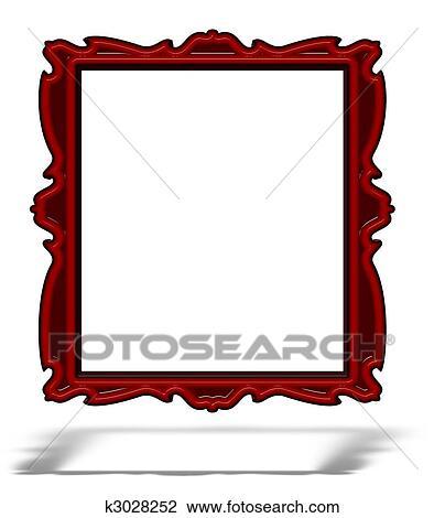 Glas leer clipart  Clip Art - leer, rot, glas, porträt, rahmen, freigestellt, weiß ...