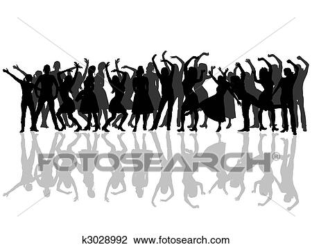 Clipart of dancing women´s group k3028992 - Search Clip Art ...