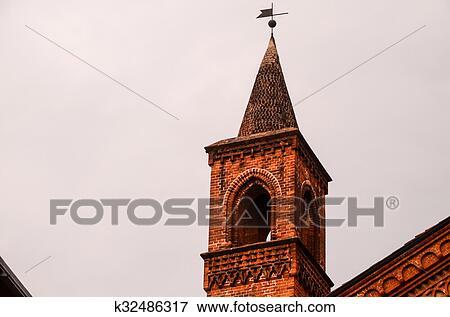 图片- 典型, 哥特式, 钟楼, 教堂, 塔.图片