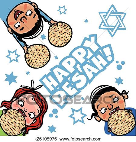 clip art of funny happy jewish passover greeting card vector rh fotosearch com birthday greeting clipart greeting clipart black and white