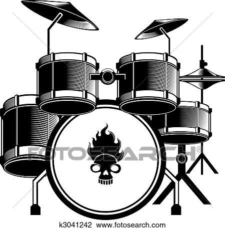 Clipart of drum set k3041242 - Search Clip Art ...