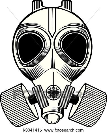 Clipart of gas mask k3041415 - Search Clip Art, Illustration ...