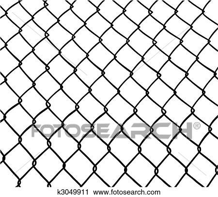 Chain Link Fence Drawing clipart of chainlink fence. k3049911 - search clip art