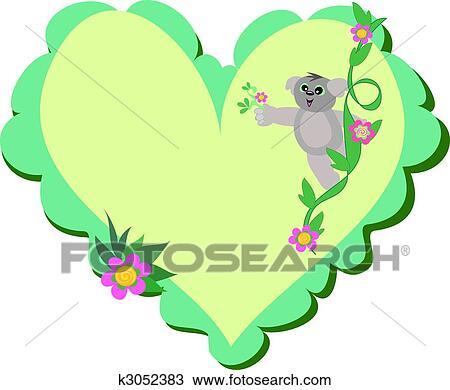 Clipart cuore con orso koala k3052383 cerca clipart for Clipart cuore