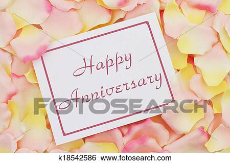 Happy anniversary letterpress card yellow happy
