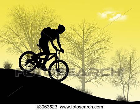 手绘图 - 山地自行车