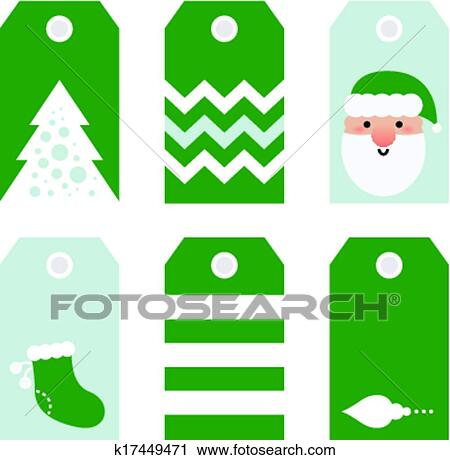Clipart of Cute modern Christmas holiday gift tags printables ...