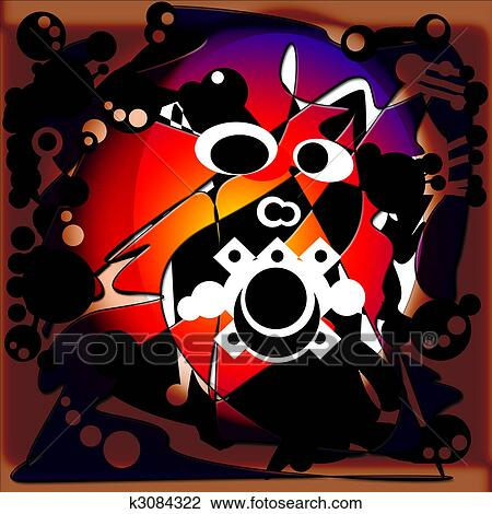 Clip Art of Abstract Anger k3084322 - Search Clipart ...