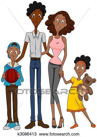 Dessin famille am ricaine africaine k3086413 - Africaine dessin ...