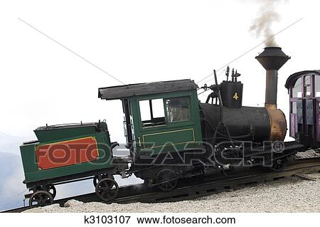 Picture of Cog train on mount washington k3103107 - Search Stock ...