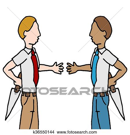 clipart of businessman and shake back stabbing k36550144 search rh fotosearch com black clip art images black clip art free images