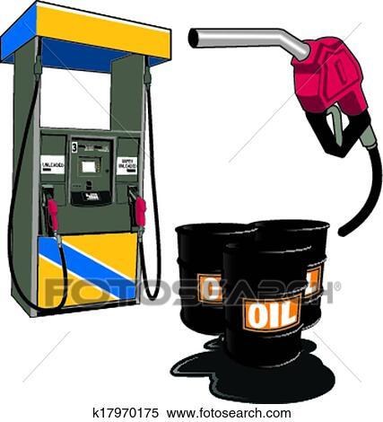 Clipart oel und benzin k17970175 suche clip art - Wandbild petrol ...