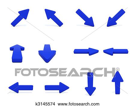 карта стрелка синего цвета
