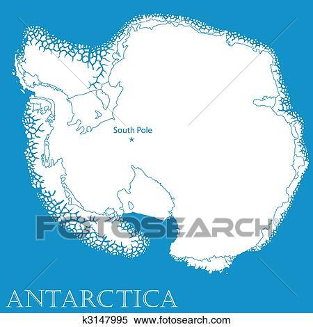 地图, 在中, 南极洲
