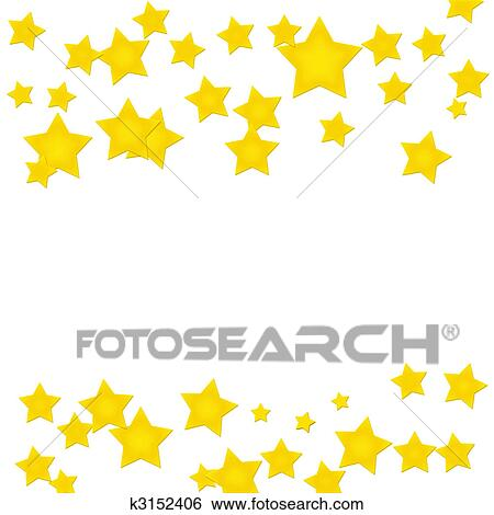stock illustration of gold star border k3152406 search clip art rh fotosearch com Professional Borders Clip Art Design Gold Star Clip Art Printable