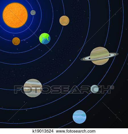 realistic solar system from above-#38