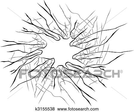 Clip Art of Broken glass k3155538 - Search Clipart, Illustration ...