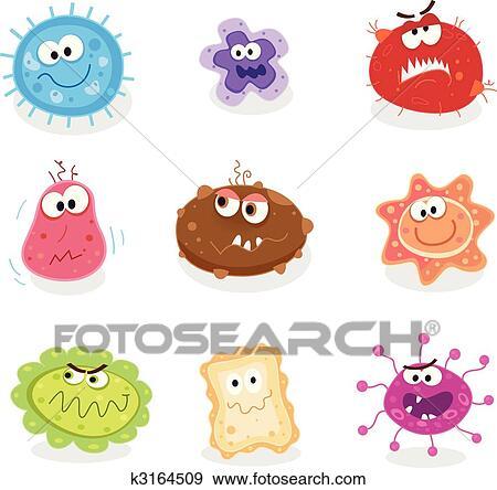 写真素材・動画素材・イラスト素材クリップアート - 虫, そして, 細菌, i