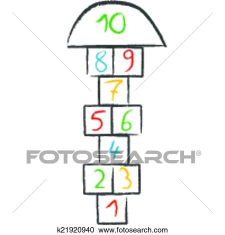 clipart of doodle hopscotch k21920940 search clip art rh fotosearch com doodle arrow clipart doodle clipart png