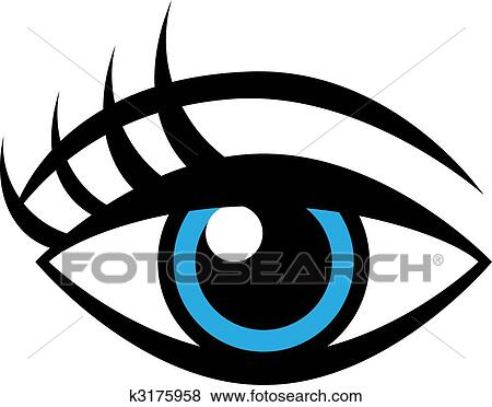 Clip Art Eye Clipart clip art of eye and eyelashes k5611737 search clipart want to pay less for stock images