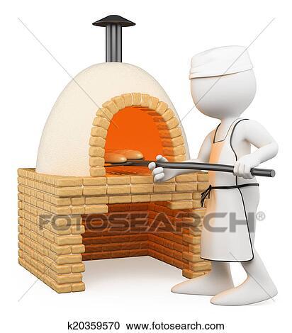Banque d 39 illustrations 3d blanc gens boulanger for Cuisine 3d boulanger