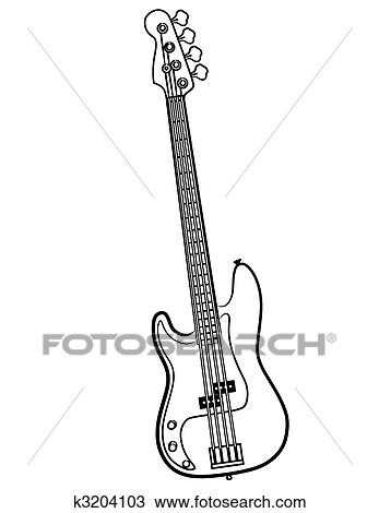 Easy Electric Guitar Drawing